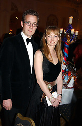 MISS CEMENTINE HAMBRO and MR ABRAM LYLE at a dinner in aid of the BAAF (British Association for Adoption & Fostering) held at The Savoy, London on 22nd March 2005.<br /><br />NON EXCLUSIVE - WORLD RIGHTS
