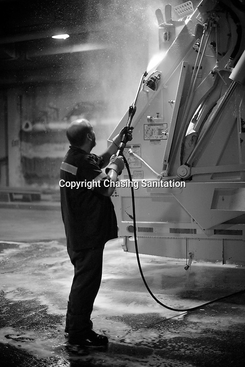 Rich Taylor, keeping the dirty clean in the Bronx. August 2009.