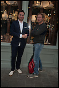 MICHAEL SHARKEY; ANGUS ROBERTSON, Dinosaur Designs launch of their first European store in London. 35 Gt. Windmill St. 18 September 2014