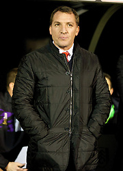 LONDON, ENGLAND - Wednesday, February 12, 2014: Liverpool's manager Brendan Rodgers before the Premiership match against Fulham at Craven Cottage. (Pic by David Rawcliffe/Propaganda)