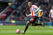 Sunderland's Midfielder Wahbi Khazri (22) during the Barclays Premier League match between Sunderland and Arsenal at the Stadium Of Light, Sunderland, England on 24 April 2016. Photo by George Ledger.