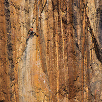 Jose Pereyra climbs 32nd Soul, 5.13a above the Nam Ou River, , Ban Pak Ou, Luang Phrabang, Laos