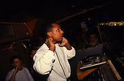 DJ Derrick May at work, 1990's