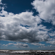 Cloud and seascape of Atlantic Ocean in May Atlantic City, NJ