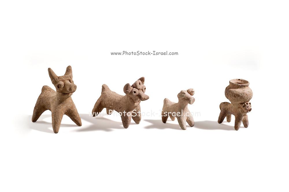 4 Terracotta Syro-Hittite bulls 2nd millennium BCE (private collection)