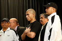 June 12, 2009; New York, NY, USA;  Miguel Cotto weighs in for his upcoming fight against Joshua Clottey . The two will meet on June 13, 2009 at Madison Square Garden.  Mandatory Credit: Ed Mulholland-US PRESSWIRE
