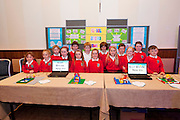 Young engineers and Scientists from all over county Galway including pupils from Scoil Bhride New Inn at the Medtronic Junior FIRST LEGO League organised by Galway Education Centre in the Radisson Blu Hotel Galway. This year the theme was 'Super Seniors' where pupils 6 to 9 years of age had to research problems for adults over 60 and invent a solution.<br /> . Picture:Andrew Downes