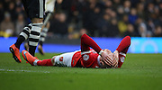 Charlton Athletic striker, Simon Makienok (9) after missing a chance during the Sky Bet Championship match between Fulham and Charlton Athletic at Craven Cottage, London, England on 20 February 2016. Photo by Matthew Redman.