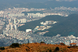 SOUTH KOREA MASAN 28OCT07 - General view of the port city of Masan from the hills surrounding Masan, south Korea...jre/Photo by Jiri Rezac..© Jiri Rezac 2007..Contact: +44 (0) 7050 110 417.Mobile:  +44 (0) 7801 337 683.Office:  +44 (0) 20 8968 9635..Email:   jiri@jirirezac.com.Web:    www.jirirezac.com..© All images Jiri Rezac 2007 - All rights reserved.