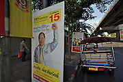 Bangkok/Thailand, parliamentary elections 2007. Posters with candidates.