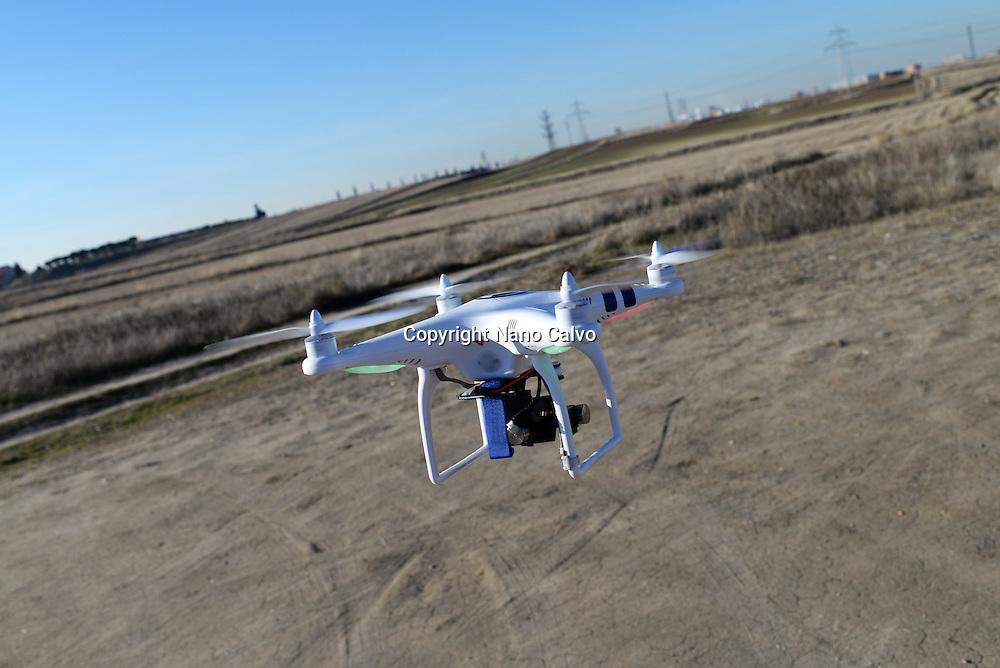 Phantom Drone in flight