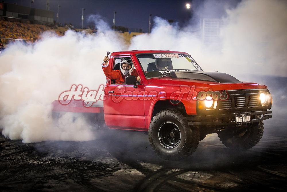 34 - Jason Fletcher - LOOSE CHANGE - 1993 Nissan Patrol - Red - LS1
