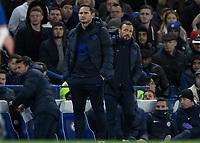 Football - 2019 / 2020 Premier League - Chelsea vs. West Ham United<br /> <br /> Frank Lampard,  Manager of Chelsea FC,  and assistant Jody Morris at Stamford Bridge <br /> <br /> COLORSPORT/DANIEL BEARHAM