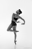 Black and white dance photography-Carry En Pointe-featuring ballerina Zui Gomez