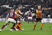 Hull City midfielder Sebastian Larsson (16) controls the ball  during the EFL Sky Bet Championship match between Hull City and Aston Villa at the KCOM Stadium, Kingston upon Hull, England on 31 March 2018. Picture by Mick Atkins.