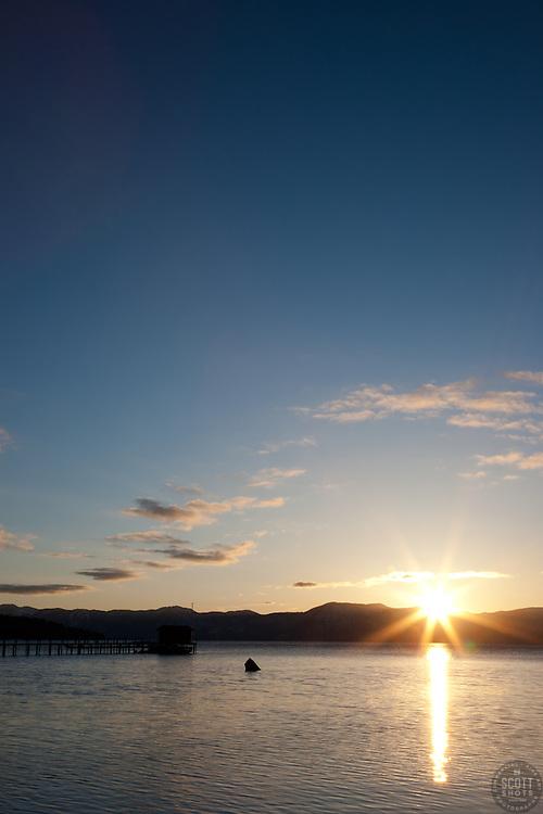 """Sunrise at Lake Tahoe 5"" - This sunrise was photographed in Tahoe City, Lake Tahoe."