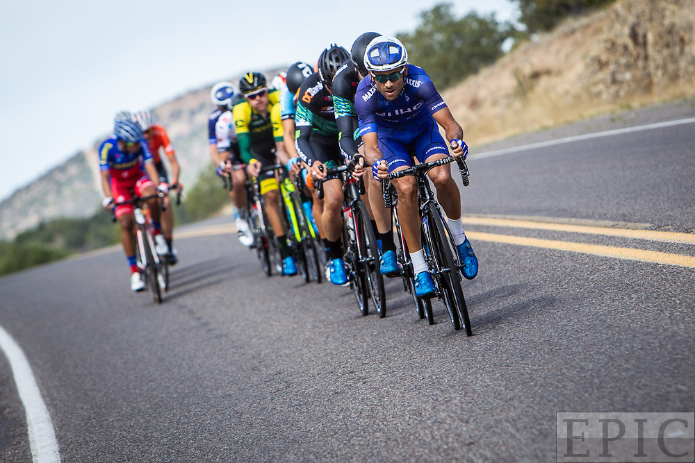 SILVERY CITY, NM - APRIL 22: Janier Acevedo (UnitedHealthcare Pro Cycling) pulls the break during stage 5 of the Tour of The Gila on April 22, 2018 in Silver City, New Mexico. (Photo by Jonathan Devich/Epicimages.us)