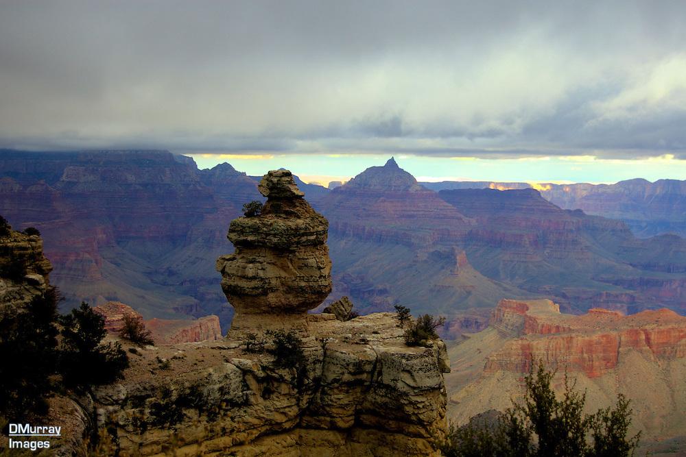 Rock on Perch, Grand Canyon National Park, Arizona, October 2010