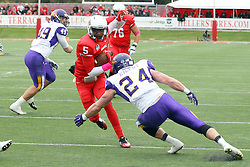 03 October 2015:  Tre Roberson(5) & Tim Kilfoy(24). NCAA FCS Football between Northern Iowa Panthers and Illinois State Redbirds at Hancock Stadium in Normal IL (Photo by Alan Look)