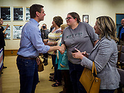 11 APRIL 2019 - AMES, IOWA: Rep. ERIC SWALWELL (D-CA) introduces himself to voters at his town hall meeting on the campus of Iowa State University in Ames. Swalwell represents California's 15th District but is originally from Algona, Iowa. His appearance in Ames Thursday was his first appearance in Iowa since announcing his candidacy to be the Democratic nominee for the US Presidency on April 8, although he made about 20 trips to Iowa since the 2016 election. Iowa traditionally hosts the the first election event of the presidential election cycle. The Iowa Caucuses will be on Feb. 3, 2020.     PHOTO BY JACK KURTZ