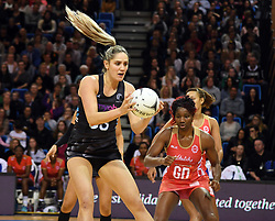 New Zealand's Te Paea Selby-Rickit against England in the Taini Jamison Trophy netball series match at Te Rauparaha Arena, Porirua, New Zealand, Thursday, September 07, 2017. Credit:SNPA / Ross Setford  **NO ARCHIVING**