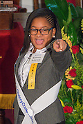 Kennady Roberson of Lockhart Elementary School performs during the Martin Luther King, Jr. Oratory Competition at Antioch Missionary Baptist Church, January 17, 2014.