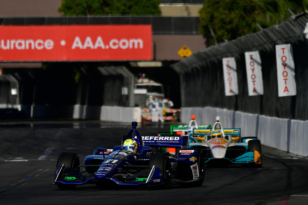 Spencer Pigot, Ed Carpenter Racing Chevrolet<br /> Sunday 15 April 2018<br /> Toyota Grand Prix of Long Beach<br /> Verizon IndyCar Series<br /> Streets of Long Beach, California USA<br /> World Copyright: Scott R LePage<br /> LAT Images