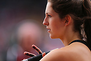 Eliza McCartney (New Zealand), preparing for her first pole vault during the Muller Grand Prix at Alexander Stadium, Birmingham, United Kingdom on 18 August 2018. Picture by Ian Stephen.