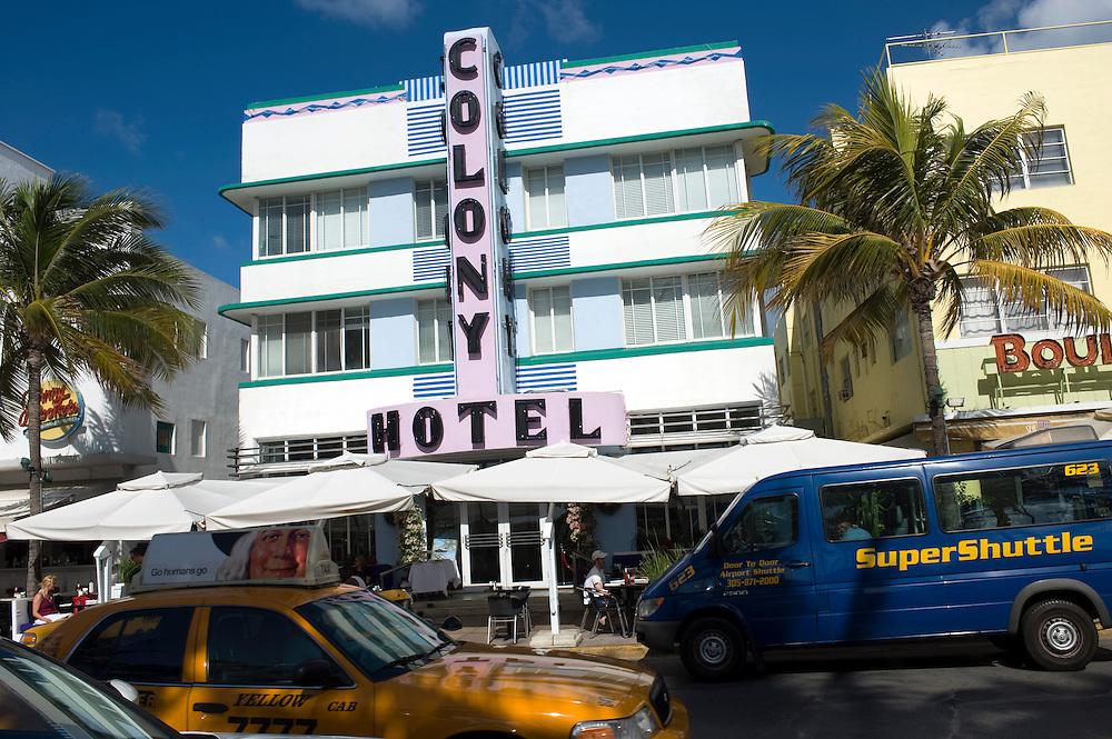 Colony Hotel am Ocean Drive, Miami Beach..Florida 2009..Foto © Stefan Falke.