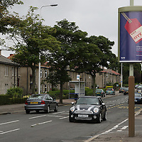 Street Broadcast Posters, Dundee....18.07.08<br /> Postercope Scotrail<br /> Picture by Graeme Hart.<br /> Copyright Perthshire Picture Agency<br /> Tel: 01738 623350  Mobile: 07990 594431