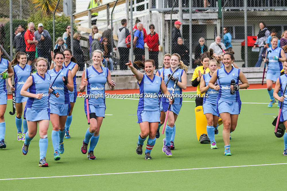 Northland do a lap of honour after winning. NHL Womens Hockey Semi-Final. Canterbury v Northland. Whangarei. New Zealand. 19 September 2015. Copyright Photo: Heath Johnson / www.photosport.nz