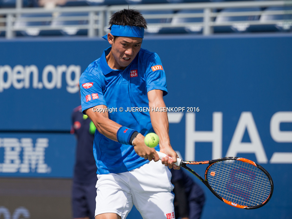 KEI NISHIKORI (JPN)<br /> <br /> Tennis - US Open 2016 - Grand Slam ITF / ATP / WTA -  USTA Billie Jean King National Tennis Center - New York - New York - USA  - 30 August 2016.
