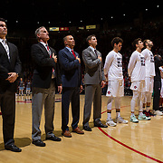 10 November 2017:  The San Diego State Aztecs men's basketball team opens up the season against San Diego Christian. The Aztecs lead the Hawks 46-24 at the half.<br /> www.sdsuaztecphotos.com