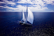 Twizzle sailing in the Caribbean Superyacht Regatta and Rendezvous, race 2.