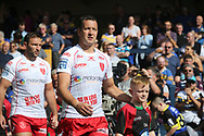 Danny McGuire of Hull Kingston Rovers walks out against his former club Leeds Rhinos during the Super 8s the Qualifiers match at Emerald Headingley  Stadium, Leeds<br /> Picture by Stephen Gaunt/Focus Images Ltd +447904 833202<br /> 01/09/2018