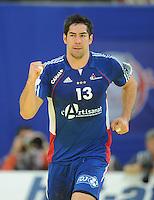 Handball EM Herren 2010 Hauptrunde Deutschland - Frankreich 24.01.2010 Nikola Karabatic (FRA) jubelt