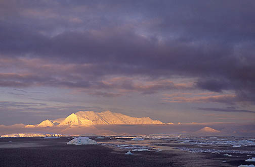 Antarctica, Sunset over Lemaire Channel. Antarctica Peninsula.