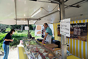 outdoors food market during the Covid 19 crisis France April 2020