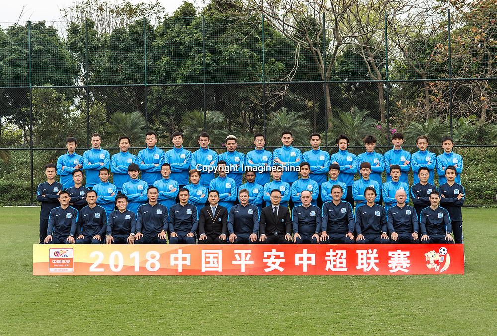 a4f52a123 Group Shots of Guangzhou R amp F F.C. for the 2018 Chinese Super ...