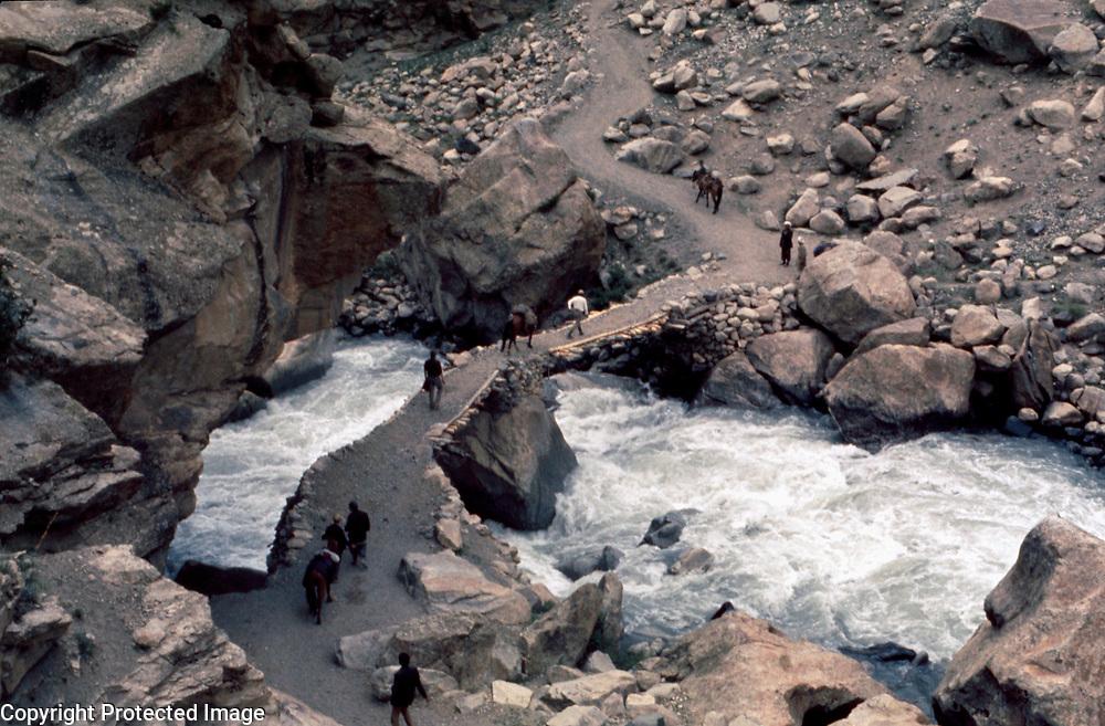 4 June 1976<br /> Bridge over tributary stream Pedestrians crossing.