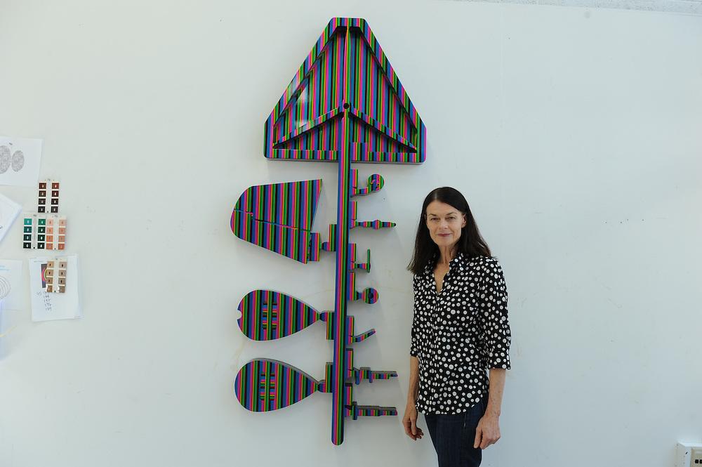 The artist Heather McGill at her studio at Cranbrook Academy of Art in Bloomfield Hills near Detroit, Michigan, USA.<br /> <br /> Art in Detroit 2013<br /> &copy; Stefan Falke<br /> www.stefanfalke.com
