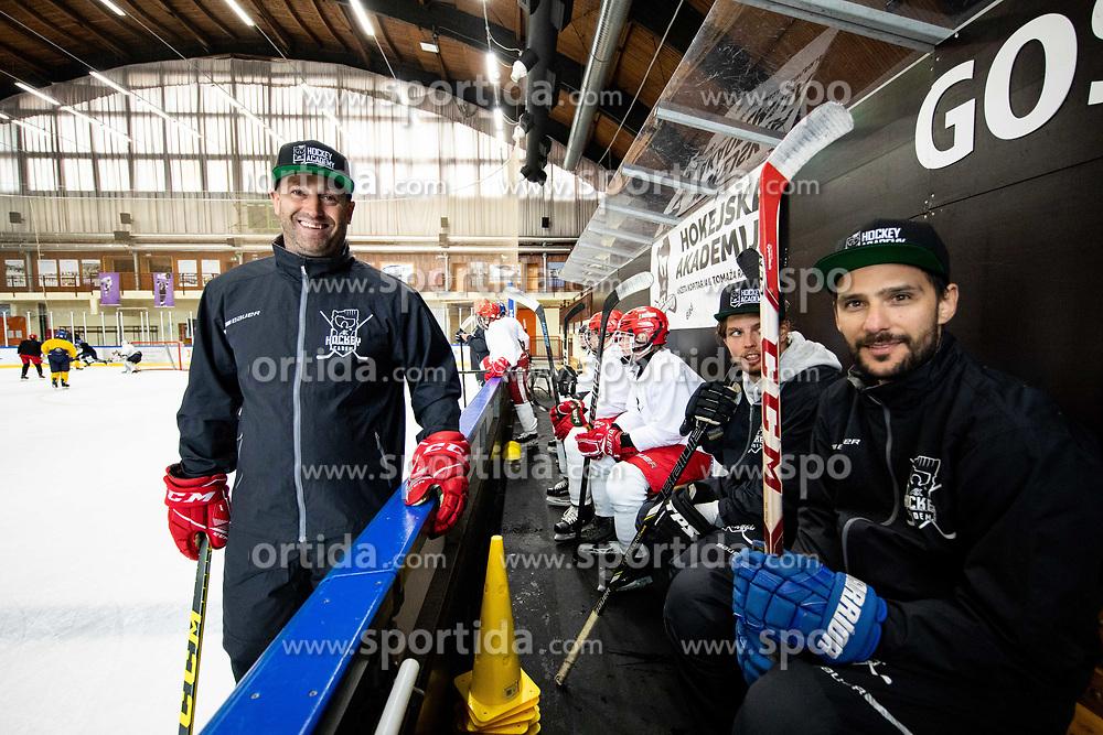 Tomaz Razingar, Luka Gracnar during practice at Hockey Academy of Anze Kopitar and Tomaz Razingar, on July 9, 2019 in Ice Hockey arena Bled, Slovenia. Photo by Vid Ponikvar / Sportida