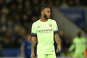 Manchester City midfielder Raheem Sterling  during the Barclays Premier League match between Leicester City and Manchester City at the King Power Stadium, Leicester, England on 29 December 2015. Photo by Simon Davies.