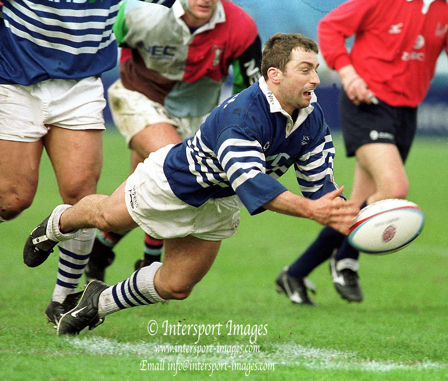 Richmend , United Kingdom.   Rugby. England v Harlequins vs Sale. 31-3-01. Sales' Fly half, Bryan Redpath. .[Mandatory Credit; Peter Spurrier/Intersport Images].. ...........