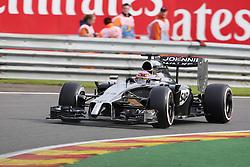 22.08.2014, Circuit de Spa, Francorchamps, BEL, FIA, Formel 1, Grand Prix von Belgien, Training, im Bild Jenson Button (McLaren Mercedes) // during the Practice of Belgian Formula One Grand Prix at the Circuit de Spa in Francorchamps, Belgium on 2014/08/22. EXPA Pictures © 2014, PhotoCredit: EXPA/ Eibner-Pressefoto/ Bermel<br /> <br /> *****ATTENTION - OUT of GER*****