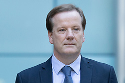 © Licensed to London News Pictures. 29/07/2020. London, UK. Charlie Elphicke arrives at Southwark Crown Court with his wife Natalie Elphicke (unseen) . The former MP for Dover faces three charges of sexual assault against two women .  Photo credit: George Cracknell Wright/LNP