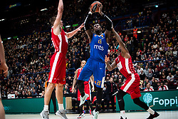 December 29, 2017 - Assago, Milan, Italy - Mathias Lessort (#26 Crvena Zvezda Mts Belgrade) shoots a layup during a game of Turkish Airlines EuroLeague basketball between  AX Armani Exchange Milan vs Crvena Zvzda Mts Belgrade at Mediolanum Forum in Milan, Italy, on 29 december 2017. (Credit Image: © Roberto Finizio/NurPhoto via ZUMA Press)