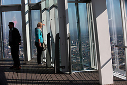 UK ENGLAND LONDON 21APR15 - Visitors enjoy the view from the private viewing platform on levels 69 and 72. The Shard London is an 87-storey skyscraper in Southwark, London, that forms part of the London Bridge Quarter development. <br /> <br /> Standing 306 metres high, the Shard is currently the tallest building in the European Union.<br /> <br />  <br /> <br /> jre/Photo by Jiri Rezac<br /> <br /> <br /> <br /> © Jiri Rezac 2015