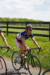 Mark Hardman (UVA) rides with the peloton through the Virginia country side.  Stage 7, the final stage of the Tour of Virginia, started and finished just off of Charlottesville's historic downtown mall on April 29, 2007.  The stage took country roads through Albemarle and Buckingham Counties, passing through the University of Virginia, the town of Scottsville, and Thomas Jefferson's Monticello before finishing in a series of circuits around downtown Charlottesville, VA.