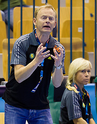 Magnus Johansson, head coach of Savehof during handball match between RK Celje Pivovarna Lasko and IK Savehof (SWE) in 3rd Round of Group B of EHF Champions League 2012/13 on October 13, 2012 in Arena Zlatorog, Celje, Slovenia. (Photo By Vid Ponikvar / Sportida)